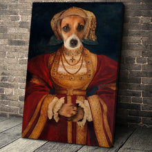Load image into Gallery viewer, Lady in Orange Custom Pet Portrait Canvas - Noble Pawtrait