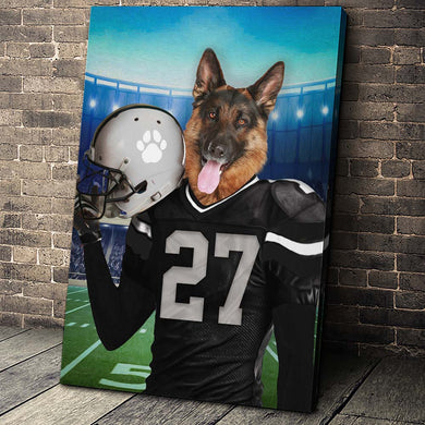 Las Vegas Fan Custom Canvas Pet Portrait - Noble Pawtrait