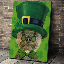 Load image into Gallery viewer, The Lucky Charm Custom Pet Portrait - Noble Pawtrait