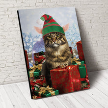 Load image into Gallery viewer, Christmas Helping Paw Custom Pet Portrait - Noble Pawtrait