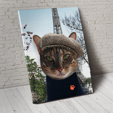 The Paris Custom Pet Portrait Canvas - Noble Pawtrait