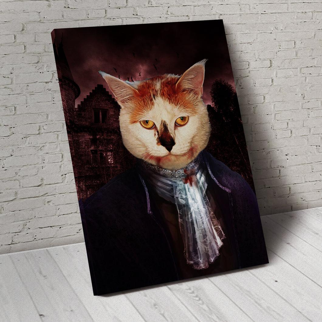 The Vampire Custom Pet Portrait - Noble Pawtrait