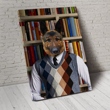 Load image into Gallery viewer, The Reader Custom Pet Portrait - Noble Pawtrait