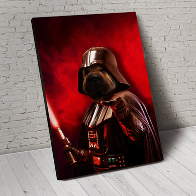 The Darth Pawder Custom Pet Portrait Canvas - Noble Pawtrait
