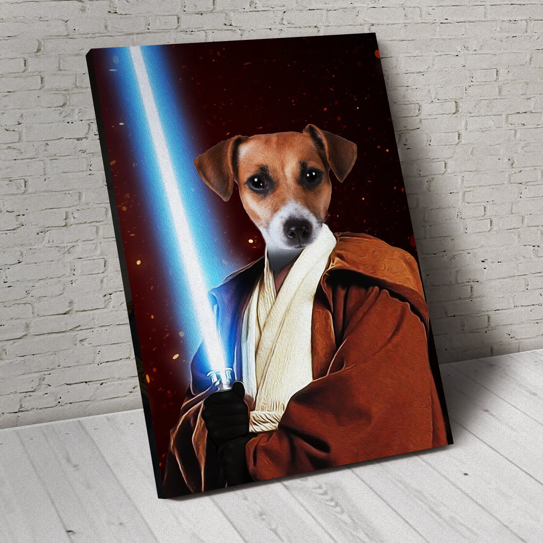 The JediPaw Custom Pet Portrait Canvas - Noble Pawtrait