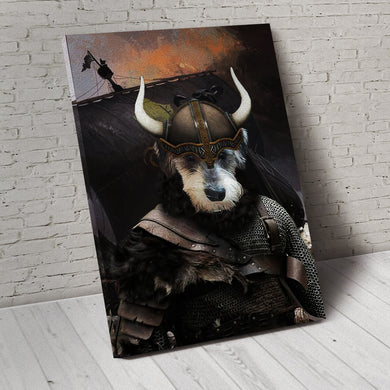 The Viking Custom Pet Portrait Canvas - Noble Pawtrait