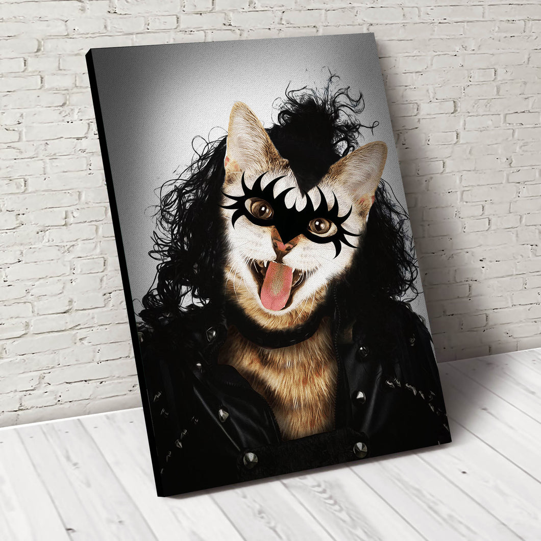 The Rocker Custom Pet Portrait - Noble Pawtrait