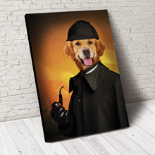 Load image into Gallery viewer, Detective Paw Custom Pet Portrait - Noble Pawtrait