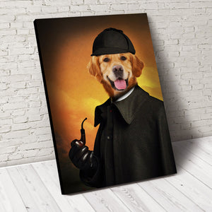 Detective Paw Custom Pet Portrait - Noble Pawtrait