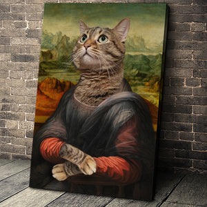 The Madam Custom Pet Portrait Canvas - Noble Pawtrait