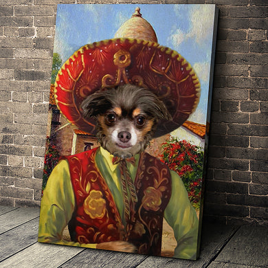 The Sombrero Custom Pet Portrait Canvas - Noble Pawtrait
