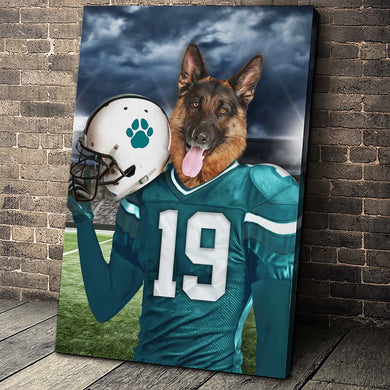 Miami Fan Custom Pet Portrait - Noble Pawtrait