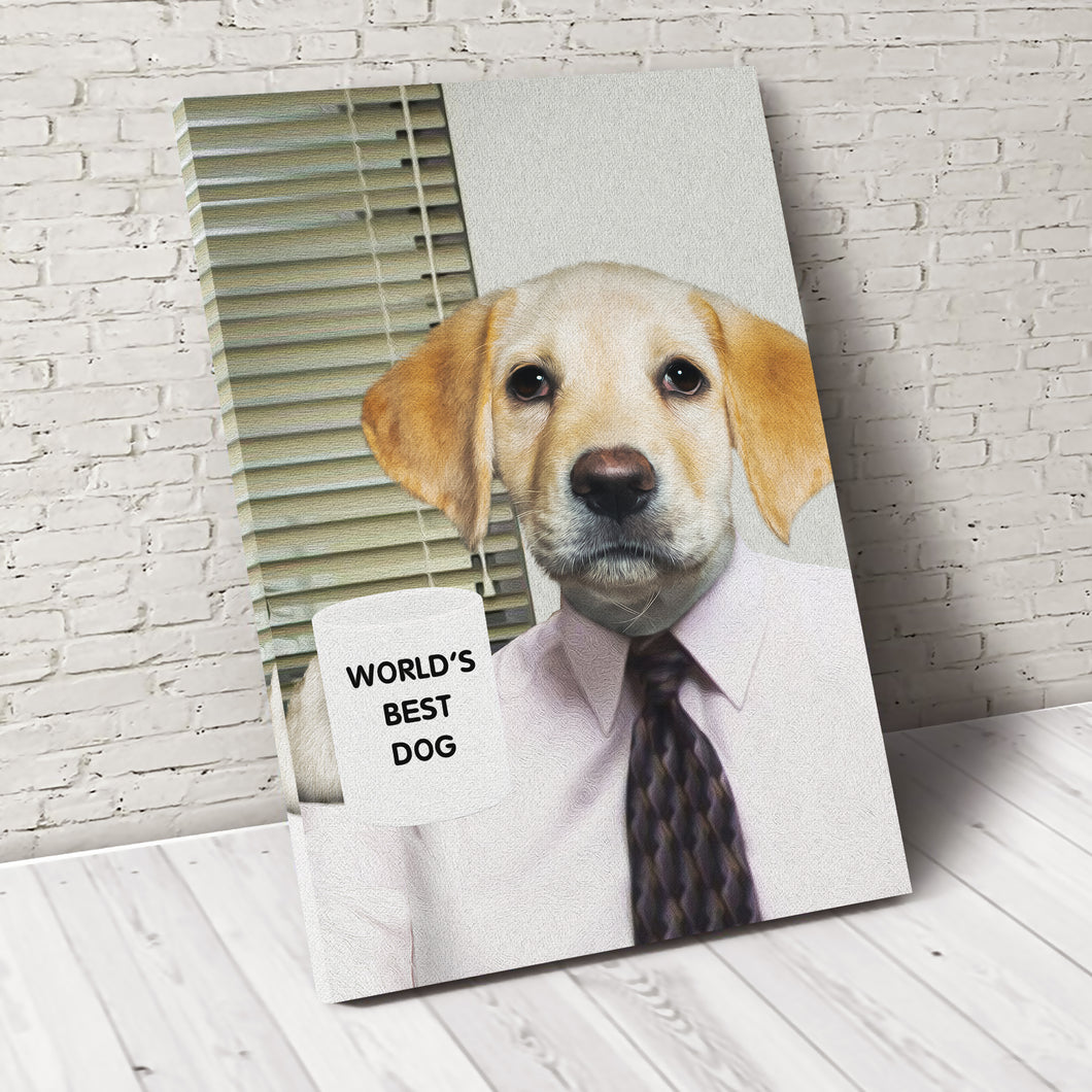 The Office Boss Custom Pet Portrait Canvas - Noble Pawtrait