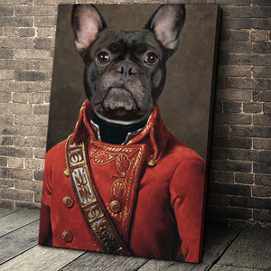 The Soldier Custom Pet Portrait Canvas - Noble Pawtrait