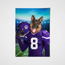 Load image into Gallery viewer, Los Angeles Chargers Fan Custom Poster Pet Portrait - Noble Pawtrait