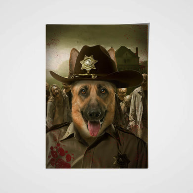 Rick the Paw Pewper Custom Pet Portrait Poster - Noble Pawtrait