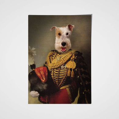 The Colonel Royal Custom Pet Portrait Poster - Noble Pawtrait