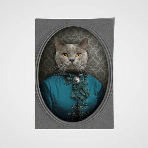 The Vintage Lady Custom Pet Portrait Poster - Noble Pawtrait