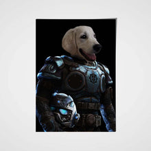 Load image into Gallery viewer, Armed Paw Custom Pet Portrait - Noble Pawtrait