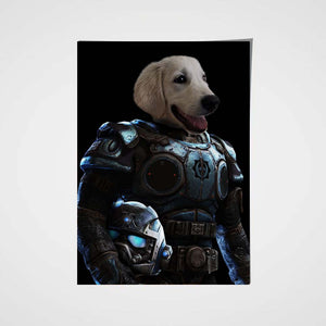 Armed Paw Custom Pet Portrait - Noble Pawtrait