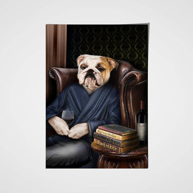 The Philosopher Custom Pet Portrait Poster - Noble Pawtrait