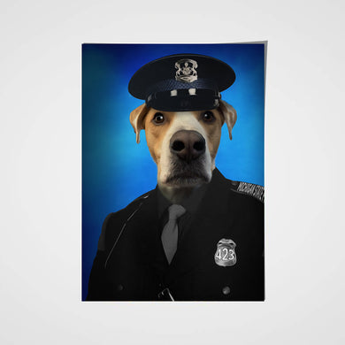 The Police Paw Custom Pet Portrait Poster - Noble Pawtrait