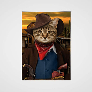 The Cowboy Custom Pet Portrait Poster - Noble Pawtrait