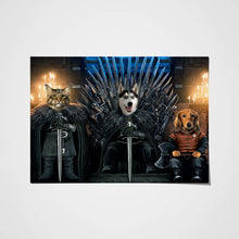 Load image into Gallery viewer, The Iron Paw Throne Custom Pet Portrait Poster - Noble Pawtrait