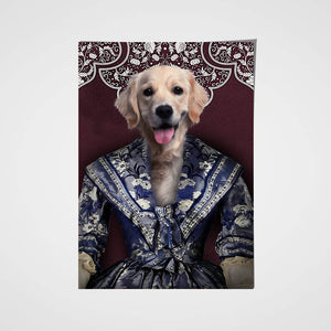 The Renaissance Lady Custom Pet Portrait Poster - Noble Pawtrait