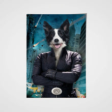 Load image into Gallery viewer, Black Paw Custom Pet Portrait Poster - Noble Pawtrait