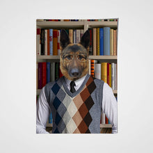 Load image into Gallery viewer, The Reader Custom Pet Portrait Poster - Noble Pawtrait