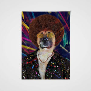 The Disco Star Custom Pet Portrait Poster - Noble Pawtrait