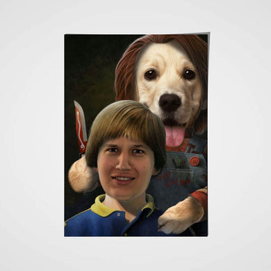 The Child Paw Custom Pet Portrait Poster - Noble Pawtrait
