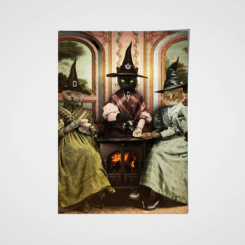 The Witches Custom Pet Portrait Poster - Noble Pawtrait