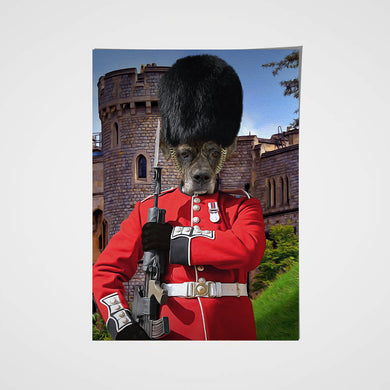 Royal Guard Custom Pet Portrait Poster - Noble Pawtrait