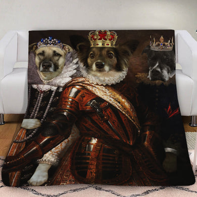 The Trio Custom Pet Blanket - Noble Pawtrait