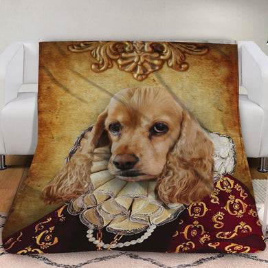 The Duchess Custom Pet Blanket - Noble Pawtrait