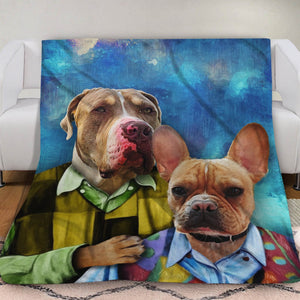 The Step Brother Custom Pet Blanket - Noble Pawtrait