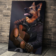 Load image into Gallery viewer, The Guitarist Custom Pet Portrait Canvas - Noble Pawtrait