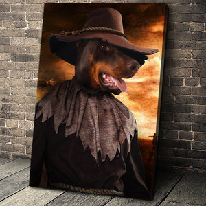 The Scarecrow Custom Pet Portrait Canvas - Noble Pawtrait