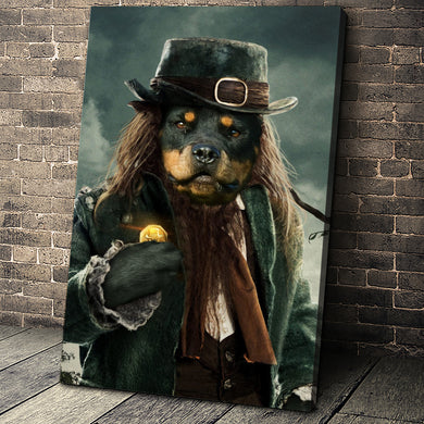 The Leprechaun Custom Pet Portrait Canvas - Noble Pawtrait