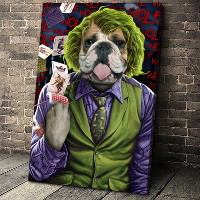 The Joke Paw Custom Pet Portrait Canvas - Noble Pawtrait