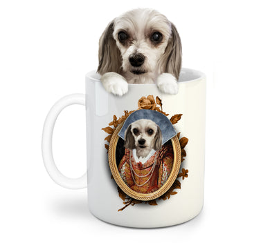 The Lady Custom Pet Mug - Noble Pawtrait