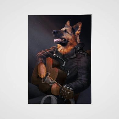 The Guitarist Custom Pet Portrait Poster - Noble Pawtrait