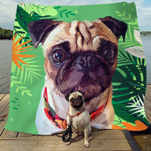 Load image into Gallery viewer, Custom Pet Fleece Blanket - Noble Pawtrait