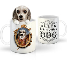 Load image into Gallery viewer, The Lady Custom Pet Mug - Noble Pawtrait