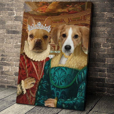 The Two Ladies Custom Pet Portrait Canvas - Noble Pawtrait