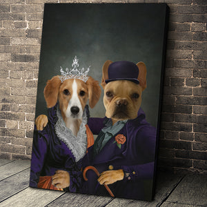 Mrs and Mr. Happy Custom Pet Portrait - Noble Pawtrait