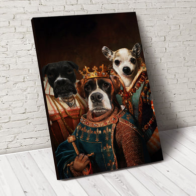 The Legend Trio Custom Pet Portrait - Noble Pawtrait