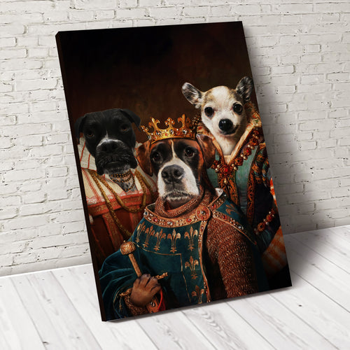 The Legend Trio Custom Pet Portrait Canvas - Noble Pawtrait